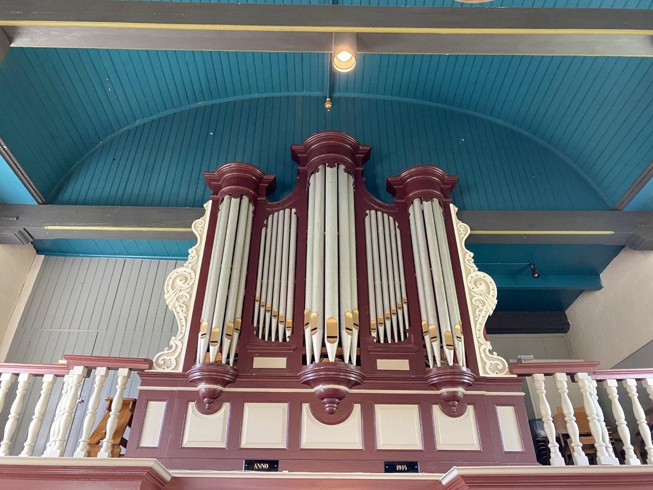 Orgel kerk Weinterp (wijnjewoude)